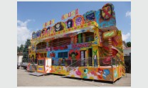 Fun-House with 2 floors on semitrailer